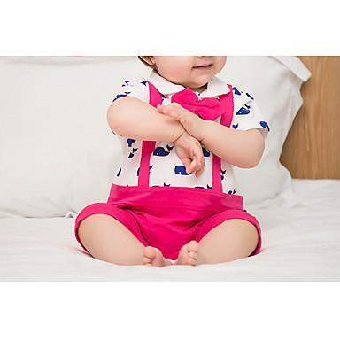 Bebelus Fete Mată / Bloc Culoare Mânecă scurtă O - piesă