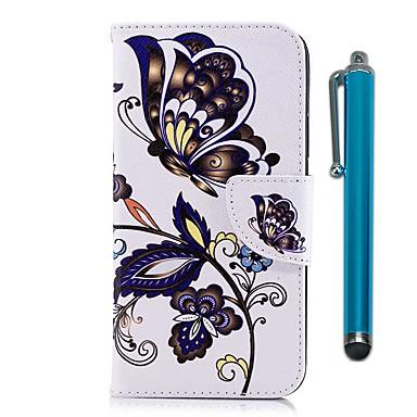 Maska Pentru Nokia Nokia 5 / Nokia 3 Portofel / Titluar Card / Cu Stand Carcasă Telefon Fluture Greu PU piele pentru Nokia 5 / Nokia 3 / Nokia 1