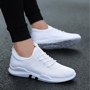 Męskie Komfortowe buty Siateczka Lato Adidasy Biały / Czarny / Szary