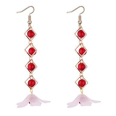 Pentru femei Cercei Picătură - Imitație de Perle Stilat Alb / Rosu Pentru Ieșire / Gril pe Kamado