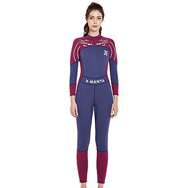 Dive&Sail Pentru femei Neopren Întreg Protecție UV la soare, Anti-Iradiere, Purtabil Chinlon / Elastan Manșon Lung Costume de Baie Costum de plajă Bariere Iritatie Modă Fermoar Spate Înot