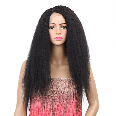 Synthetic Wig   Synthetic Lace Front Wig Curly Black Side Part Medium Brown  Natural Black Synthetic 8abecff07c
