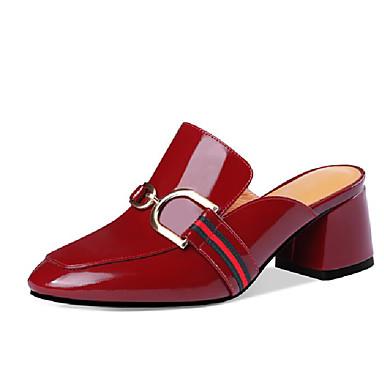 Eté 06770041 Mules Talon Confort Sabot Chaussures Cuir Bottier Vin Nappa amp; Noir Femme qw67atx