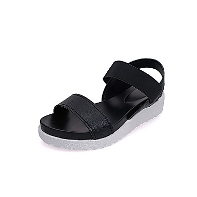 Plateado Verano Dedo Confort Zapatos 06717516 PU Media Mujer plataforma Negro redondo Sandalias Azul vRq1SxETw
