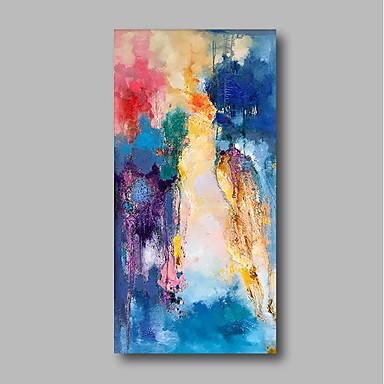 Hang-pictate pictură în ulei Pictat manual - Abstract / Peisaj Contemporan pânză