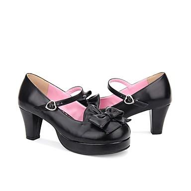 8942a36dd45 Lolita Shoes Sweet Lolita Dress Classic Lolita Dress Princess Lolita Chunky Heel  Shoes Solid Colored 6.5 cm CM Beige   Brown   Ink Blue For Women s ...