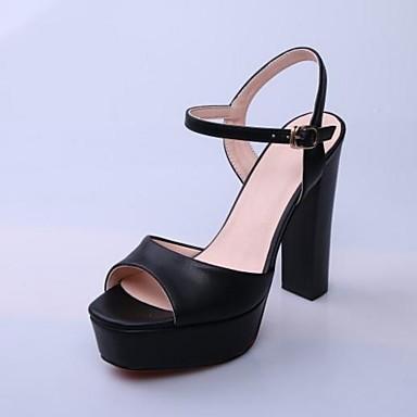 Basique Chaussures Eté Escarpin Talon Bottier Bout ouvert Argent Boucle 06769755 Cuir Noir Sandales Femme wqIUScAdA