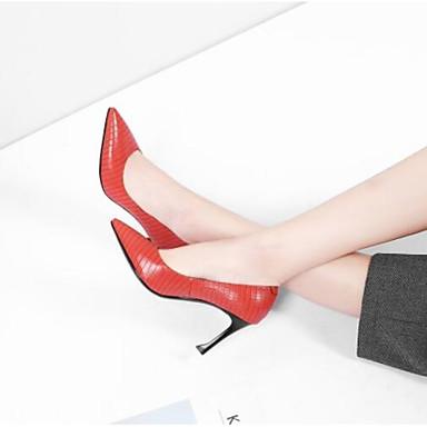Rouge mouton à Noir Peau pointu Talon Chaussures Aiguille de 06770348 Talons Confort Femme Chaussures Eté Bout p016t6