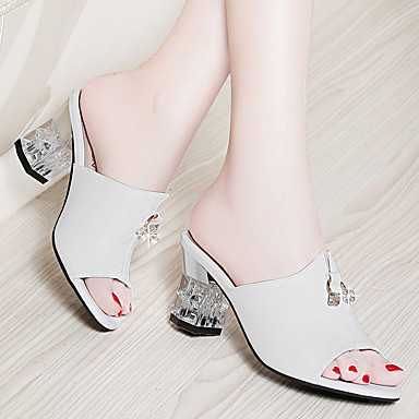 Printemps Noir Basique Escarpin Faux Bottier Chaussures Blanc Talon Sandales amp; Evénement Soirée été 06751747 Cuir Femme Confort qwxStn7100