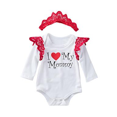 Bebelus Fete Imprimeu Manșon Lung bodysuit