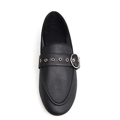 Talon Blanc Confort Bas Mocassins et Noir Bout rond D6148 Cuir 06771110 Chaussons Femme Eté Boucle Chaussures Nappa w4zUzq