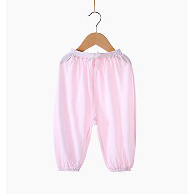 Bambino Da Ragazzo Attivo Tinta Unita Poliestere Pantaloni Rosa - Bambino (1-4 Anni) #06741815