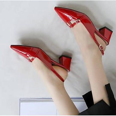Femme Chaussures Chair Bout Cuir Talon Nappa Mules été Noir Printemps 06770561 Sabot Rouge Bottier amp; Confort fermé rqrdZ4x