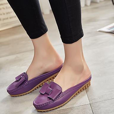 Mules hiver Vin Talon Jaune Chaussures Femme Confort amp; Sabot 06764629 Cuir Violet Plat Automne tZxw0Cq