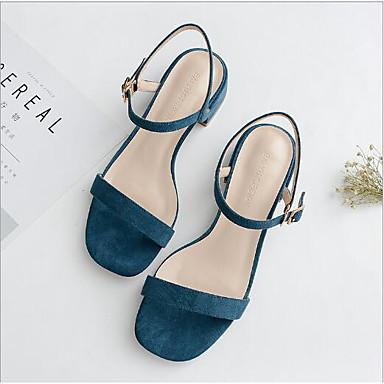 06753832 Rose Chair Sandales Eté Talon Bottier Confort Chaussures Bleu carré Bout Satin Femme Boucle xgAq7PwOW