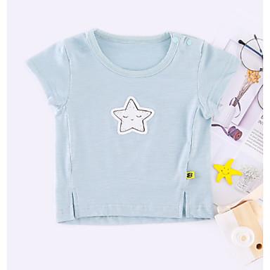 Costante Bambino Da Ragazzo Essenziale Quotidiano Collage Collage Manica Corta Standard Cotone - Poliestere T-shirt Blu - Bambino (1-4 Anni) #06737495 Ultima Moda