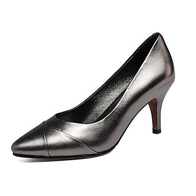 Talon Femme Bout Nappa Talons Printemps pointu Noir Champagne à Chaussures Chaussures Aiguille Cuir Confort 06769631 été CxrzCqw