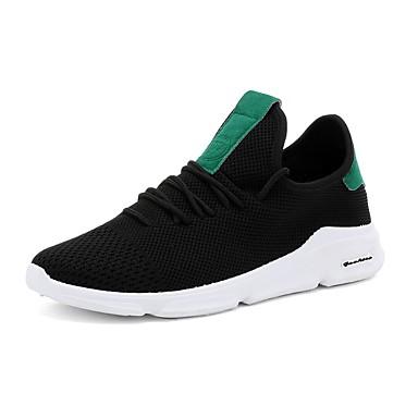 Men's Mesh Summer Comfort Sneakers Green White / Black / Green Sneakers 05f125