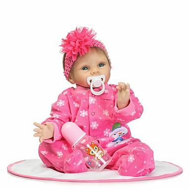 NPKCOLLECTION NPK DOLL Yeniden Doğmuş Bebekler Kız Bezi Kız Bebeklerin 24 inç Silikon - Yeni doğan Hediye Çocuk Kilidi Non Toxic Yapay İmplantasyon Mavi Gözler Tipped ve Mühürlü Çiviler Kid Genç Kız