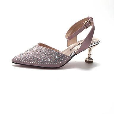 pointu Sandales Polyuréthane Rose Argent Eté Marche Pièces Chaussures amp; 06752027 Paillette Deux Kitten Brillante Femme Bout Heel Or D'Orsay CqS7xnF