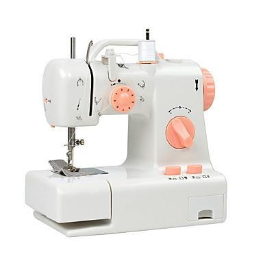 Недорогие Наборы инструментов-бытовая швейная машина. многофункциональная домашняя двухпроводная двухскоростная электрическая швейная машина, обратная стежка, педаль, маленькая, настольная лампа, касательная