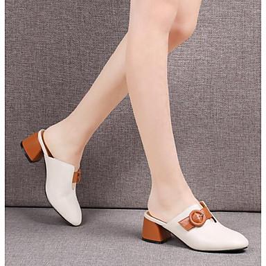 Sandales fermé Bottier Confort Nappa Chaussures Bout Noir 06764264 Eté Beige Talon Cuir Femme XFCqX