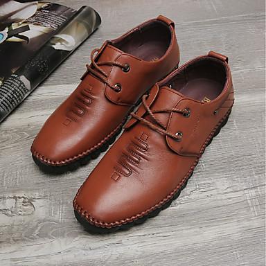 Bărbați Pantofi Piele Primăvară Confortabili Oxfords Negru / Maro