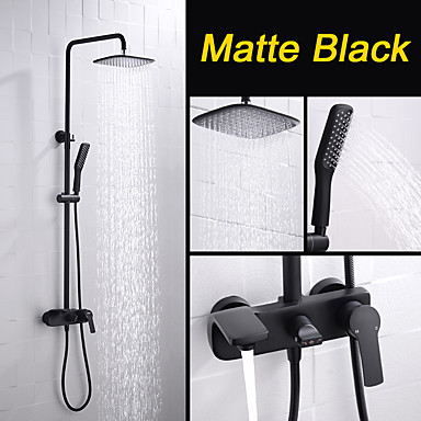 Shower Faucet - Contemporary Painting Wall Installation Ceramic Valve