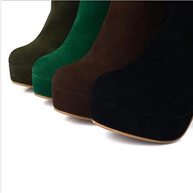 rond hiver Cuissarde amp; Véronèse Rivet Mode Femme Polyuréthane Vert la à Evénement Talon Chaussures 06770833 Vert Bottier Automne Bottes Soirée Bout Marron Bottes OF7wFtRq