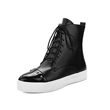 Pentru femei Pantofi PU Toamna iarna Cizme la Modă Cizme Toc Drept Vârf ascuțit Cizme / Cizme la Gleznă Ținte Negru / Gri