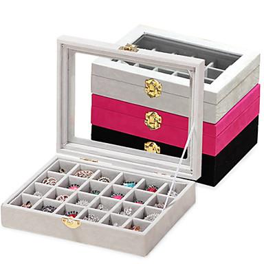 hesapli Depolama ve Düzenleme-24 parça ahşap kadın büyük saklama mücevher kutusu