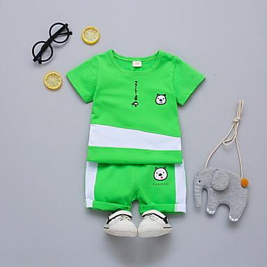 Bebelus Băieți Imprimeu Manșon scurt Set Îmbrăcăminte