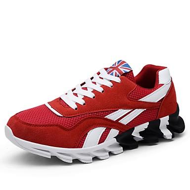 Bărbați Pantofi Croșet Primăvara & toamnă Confortabili Adidași de Atletism Alergare Negru / Rosu / Albastru