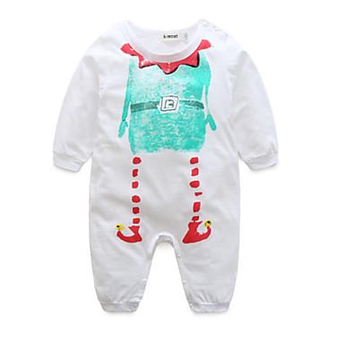 Bebelus Băieți De Bază Imprimeu Manșon Lung Bumbac O - piesă