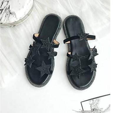 Confort 06770619 Noir Argent Bas Tongs Daim ouvert Chaussures Talon Femme Eté Bout amp; Chaussons BOtPHx