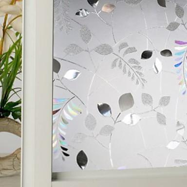 Fereastră de film și autocolante Decor Floral Floral PVC Anti Orbire