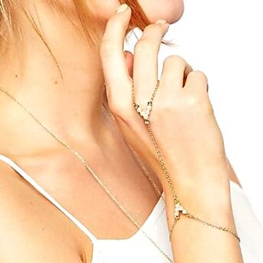 Pentru femei Perle Brățări cu Lanț & Legături Ring Bracelets - Imitație de Perle Vintage, Modă, Elegant Brățări Auriu / Argintiu Pentru Petrecere Ceremonie