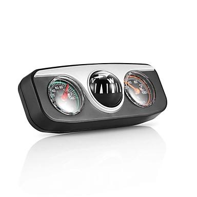 voordelige Auto-interieur accessoires-Onever mini 3 in1 gids bal ingebouwde auto kompas thermometer hygrometer decoratie ornamenten auto-interieur accessoires