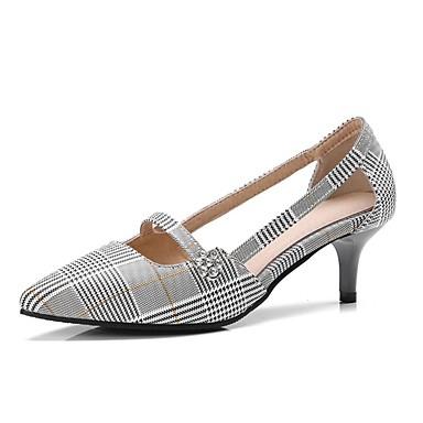 Mujer PU 06755079 Dedo Puntiagudo Gris Básico Almendra Stiletto Tacón Primavera Zapatos verano Pump Tacones 4Cg4BHpn