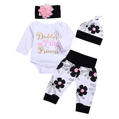 Bebelus Fete De Bază Mată Manșon Lung Set Îmbrăcăminte / Copil
