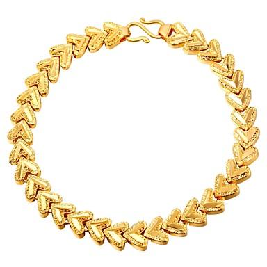 abordables Bracelet-Bracelet Femme Cœur Elégant Bracelet Bijoux Dorée Argent pour Cadeau Quotidien