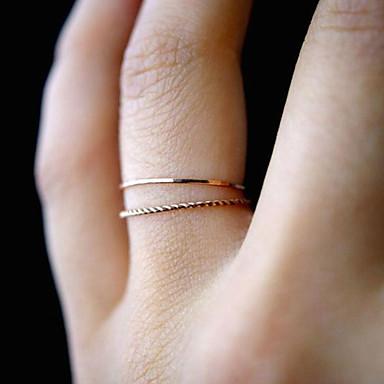 Χαμηλού Κόστους Μοδάτο Δαχτυλίδι-Γυναικεία Σχοινί Διπλό σπάγκο Στριφτό Δαχτυλίδι Σετ δαχτυλιδιών Δαχτυλίδι ουράς Κράμα Φάση της σελήνης κυρίες Unusual Απλός Μοναδικό Ρομαντικό Casual / Σπορ Μοδάτο Δαχτυλίδι Κοσμήματα Χρυσό Για