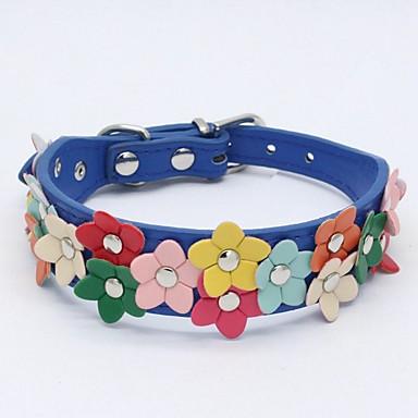 Câini / Iepuri / Pisici Gulere / Lese Antrenament Câini / Colier Portabil / Mini / Formator Geometric / Fluture PU piele / Piele poliuretan Albastru / Roz / Albastru Deschis