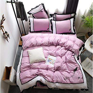 ensembles housse de couette couleur pleine moderne. Black Bedroom Furniture Sets. Home Design Ideas