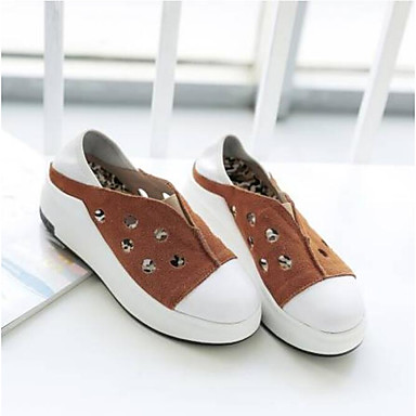 Chaussures amp; 06768588 Plat été Bout Femme Sabot Confort Noir Kaki fermé Talon Printemps Mules Cuir Nappa dw4g0Z