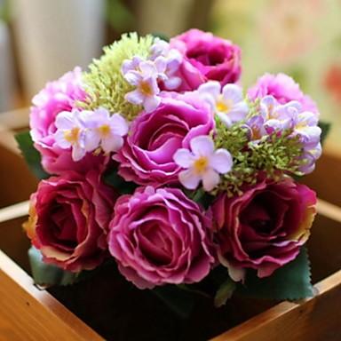 Flori artificiale 1 ramură Single Modern / Contemporan / Pastoral Stil Trandafiri / Bujori Față de masă flori