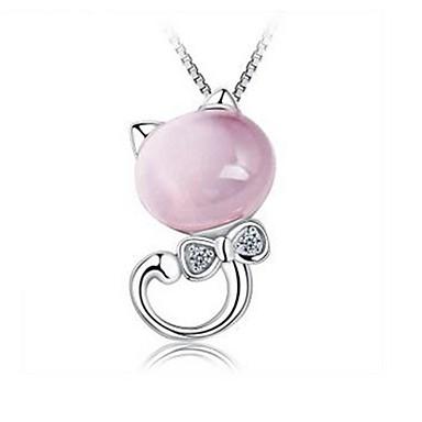 Pentru femei Opal #D Pandative - Pisici Clasic, Romantic Pandantiv Argintiu Pentru Zilnic