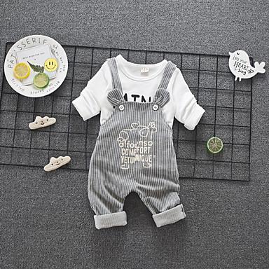 Bebelus Unisex Activ Sport Imprimeu Manșon Lung Regular Bumbac Set Îmbrăcăminte Albastru piscină 100 / Copil