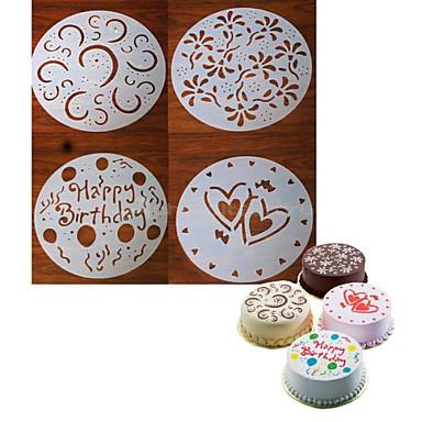Instrumente de coacere Plastic Creative / Crăciun / Reparații Biscuiți / Cupcake / Ciocolatiu Materiale pentru torturi / Tăietoare De Biscuiți / Instrumente de desert 4 buc