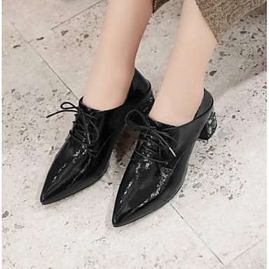 Oxfords Bottier Marron Chaussures Cuir Confort 06769637 Eté fermé Femme Nappa Talon Bout Noir wXqaxCXOnA